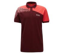 Regular-Fit Poloshirt aus elastischem Baumwoll-Mix im Colour Block Design