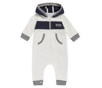 Baby-Overall aus Baumwolle mit Kapuze