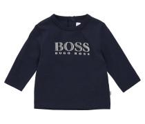 Kids-Langarmshirt aus Baumwolle mit rückseitiger Druckknopfleiste