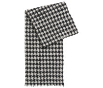 Schal mit Hahnentritt-Muster aus Schurwoll-Mix