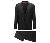 Extra Slim-Fit Anzug aus Schurwoll-Mix mit Seide