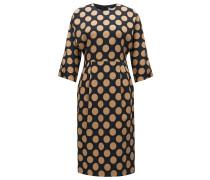 Gepunktetes Regular-Fit-Kleid aus elastischem Material-Mix