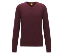 Regular Fit Pullover aus Baumwoll-Mix mit Schurwolle