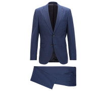 Dezent gemusterter Regular-Fit Anzug aus Schurwolle