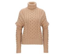 Oversize Pullover aus Schurwolle mit Rollkragen