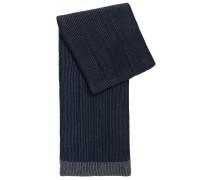 Gerippter Schal aus Schurwolle