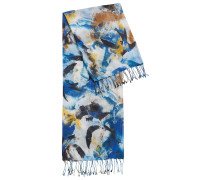 Abstrakt gemusterter Schal aus leichtem Baumwoll-Mix mit Modal