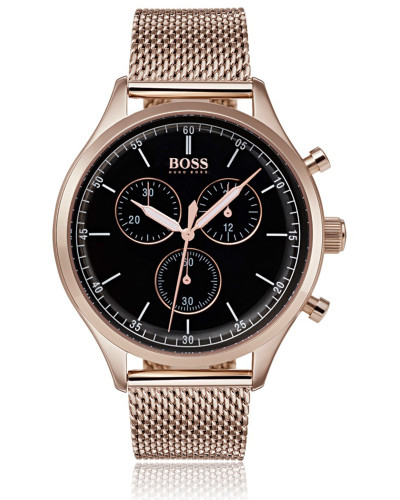 Uhr aus beschichtetem Edelstahl mit Gliederarmband