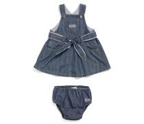 Baby-Kleid mit Höschen aus Baumwolle