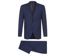 Fein gemusterter Extra Slim-Fit Anzug aus Schurwoll-Mix mit Seide