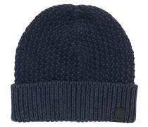Mütze aus Baumwolle mit zweifarbiger Struktur