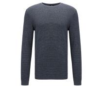 Slim-Fit Pullover aus Baumwolle mit Denim-Effekt