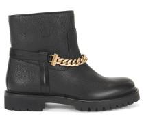 Leder-Boots mit Ketten-Detail