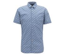 Slim-Fit Hemd aus Baumwolle mit Ananas-Print