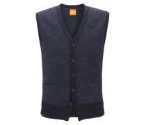 Regular-Fit Weste aus Baumwolle mit Fünf-Knopf-Leiste