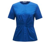 Taillierte Bluse aus Stretch-Baumwolle mit Falten-Detail