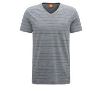 Gestreiftes Regular-Fit T-Shirt aus Baumwoll-Mix