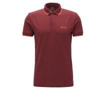 Slim-Fit Poloshirt aus elastischem Baumwoll-Mix mit Logo-Schriftzug