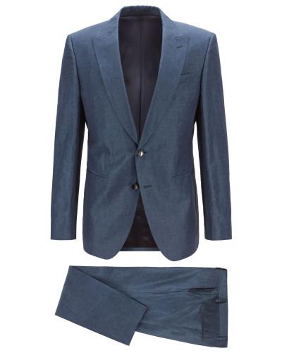 In Italien gefertigter Slim-Fit Anzug aus Leinen