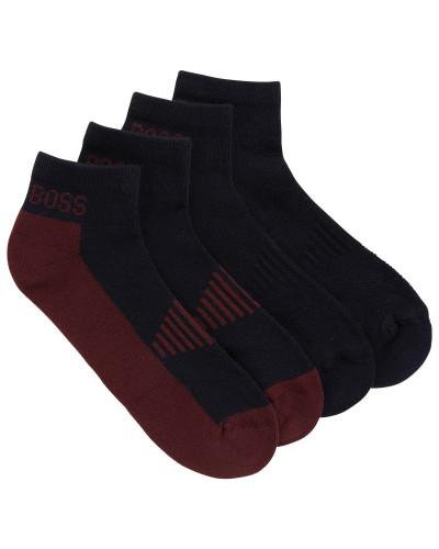 Knöchelhohe Socken aus Baumwoll-Piqué mit Polsterung im Zweier-Pack