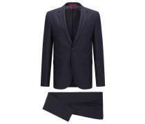 Extra Slim-Fit Anzug aus Schurwolle mit Birdseye-Muster