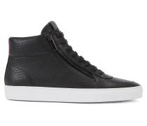 Hightop-Sneakers aus geprägtem Leder