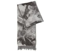 Bedruckter Schal aus Baumwoll-Mix mit Wolle