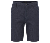 Slim-Fit Shorts aus elastischer Baumwolle mit 3D-Muster