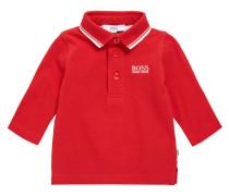 Kids-Poloshirt aus Baumwolle mit langen Ärmeln