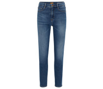 Tapered-Fit Jeans aus Stretch-Baumwolle