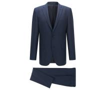 Regular-Fit Anzug aus Schurwoll-Mix mit Seide