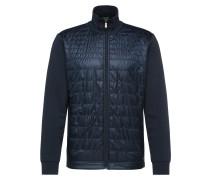 Jersey-Jacke aus elastischem Baumwoll-Mix mit gesteppter Vorderseite