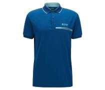 Regular-Fit Poloshirt aus elastischem Material-Mix