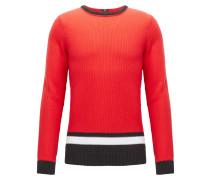 Pullover aus strukturierter Baumwolle im Colour Block Design