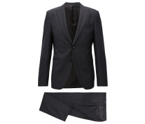 Extra-slim-fit virgin wool twill suit