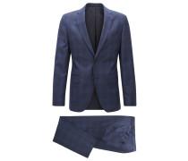 Karierter Regular-Fit Anzug aus Schurwolle