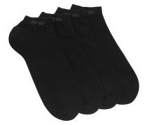 Doppelpack Sneaker-Socken aus elastischem Baumwoll-Mix
