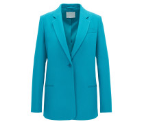 Gallery Collection relaxed-fit blazer in bonded crêpe