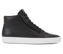 Hightop Sneakers aus geprägtem Leder