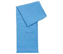 Jacquard-Schal aus Baumwoll-Mix mit gefransten Enden