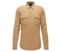 Regular-Fit Hemd aus schwerer Baumwolle