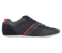 Sneakers mit Leder-Details