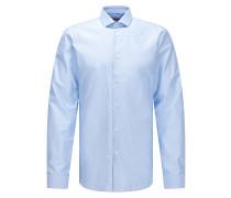 Fein gepunktetes Slim-Fit Hemd aus Baumwoll-Twill
