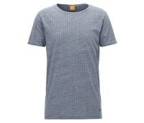 Regular-Fit T-Shirt aus melierter Baumwolle