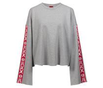 Sweatshirt aus Baumwolle in Cropped-Länge