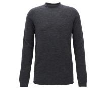 Nahtloser Oversize-Pullover aus einem elastischen Woll-Mix mit Alpakawolle