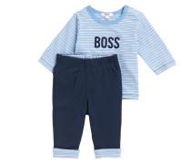 Baby Set mit Regular-Fit Longsleeve und Hose aus Baumwolle