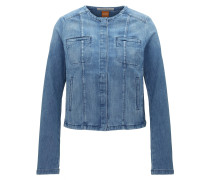 Regular-Fit Jacke aus Stone-washed Denim