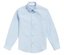 Kids-Regular-Fit-Hemd aus Fil-à-Fil-Baumwolle