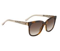 Sonnenbrille mit Vollrandfassung und transparenten Bügeln